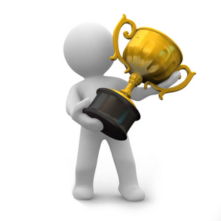 Participante ganhando um prêmio